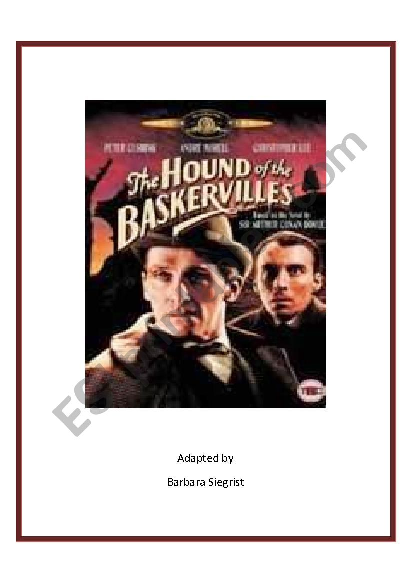The Hound of the Baskervilles worksheet