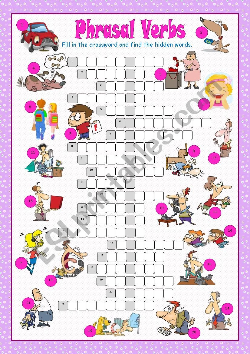 Phrasal Verbs Crossword Puzzle