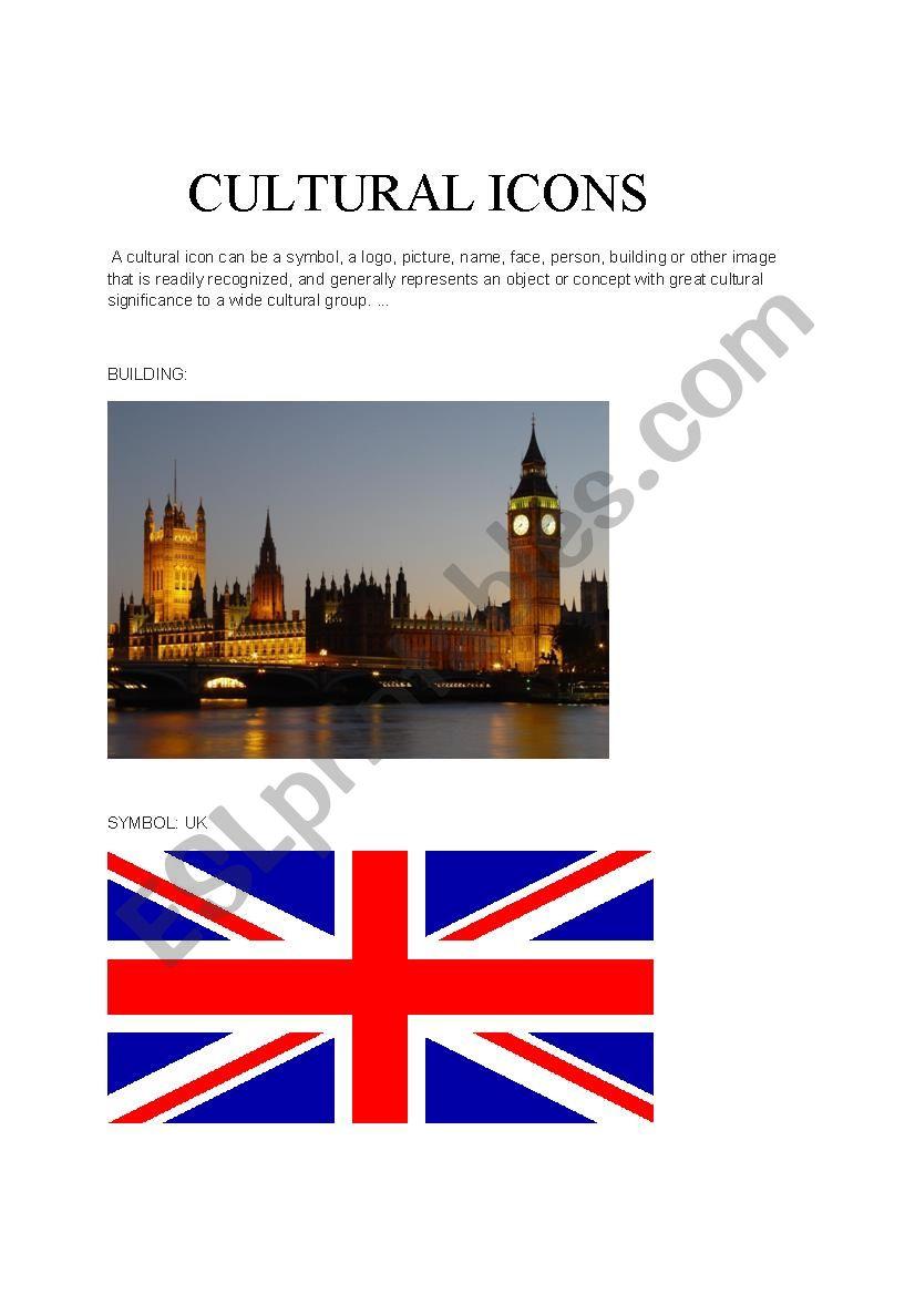 British Cultural Icons worksheet