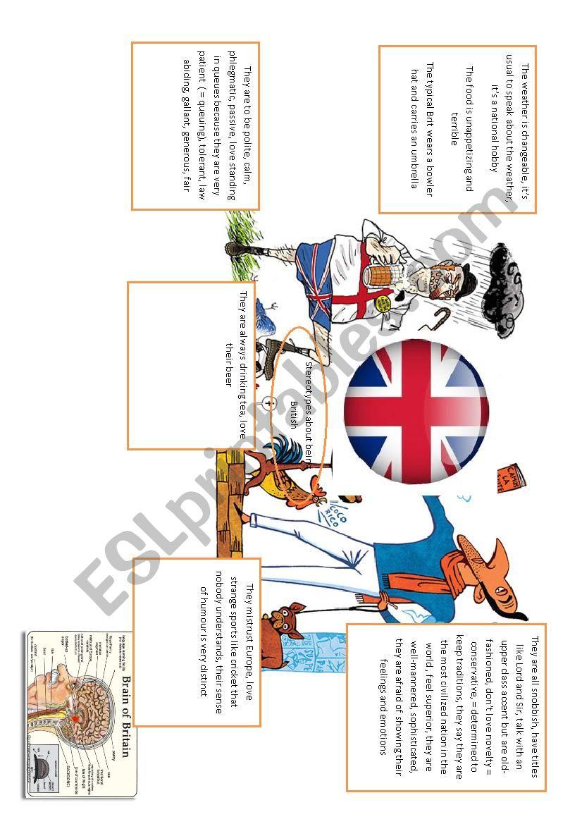 spidergram about stereotypes worksheet