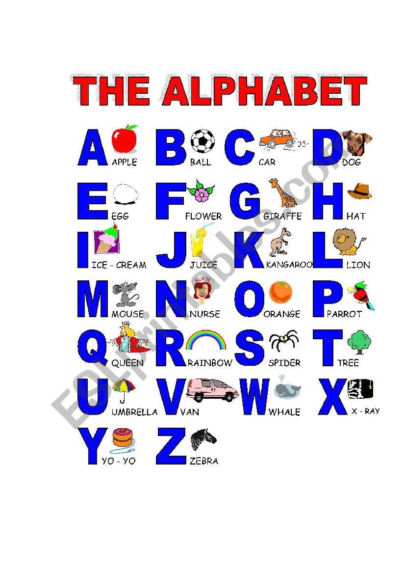 The alphabeth worksheet