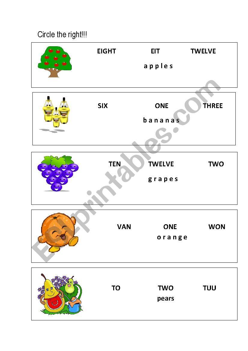 numbers 1-12 worksheet