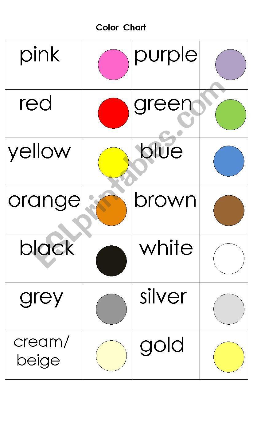 Colour worksheet