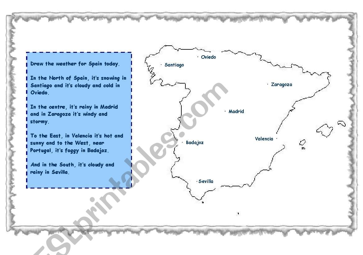 English worksheets weather map review weather map review worksheet ibookread PDF