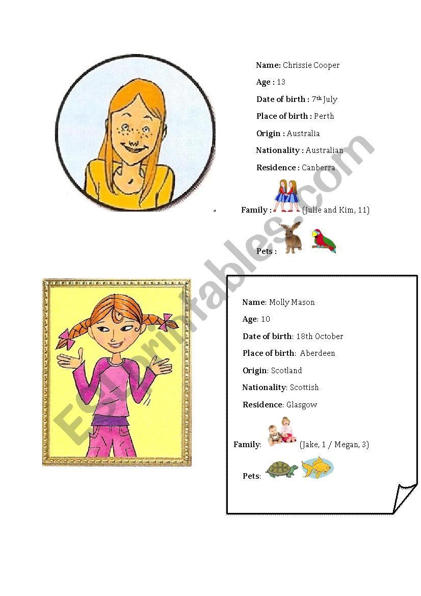 speaking cards (4 sets) worksheet