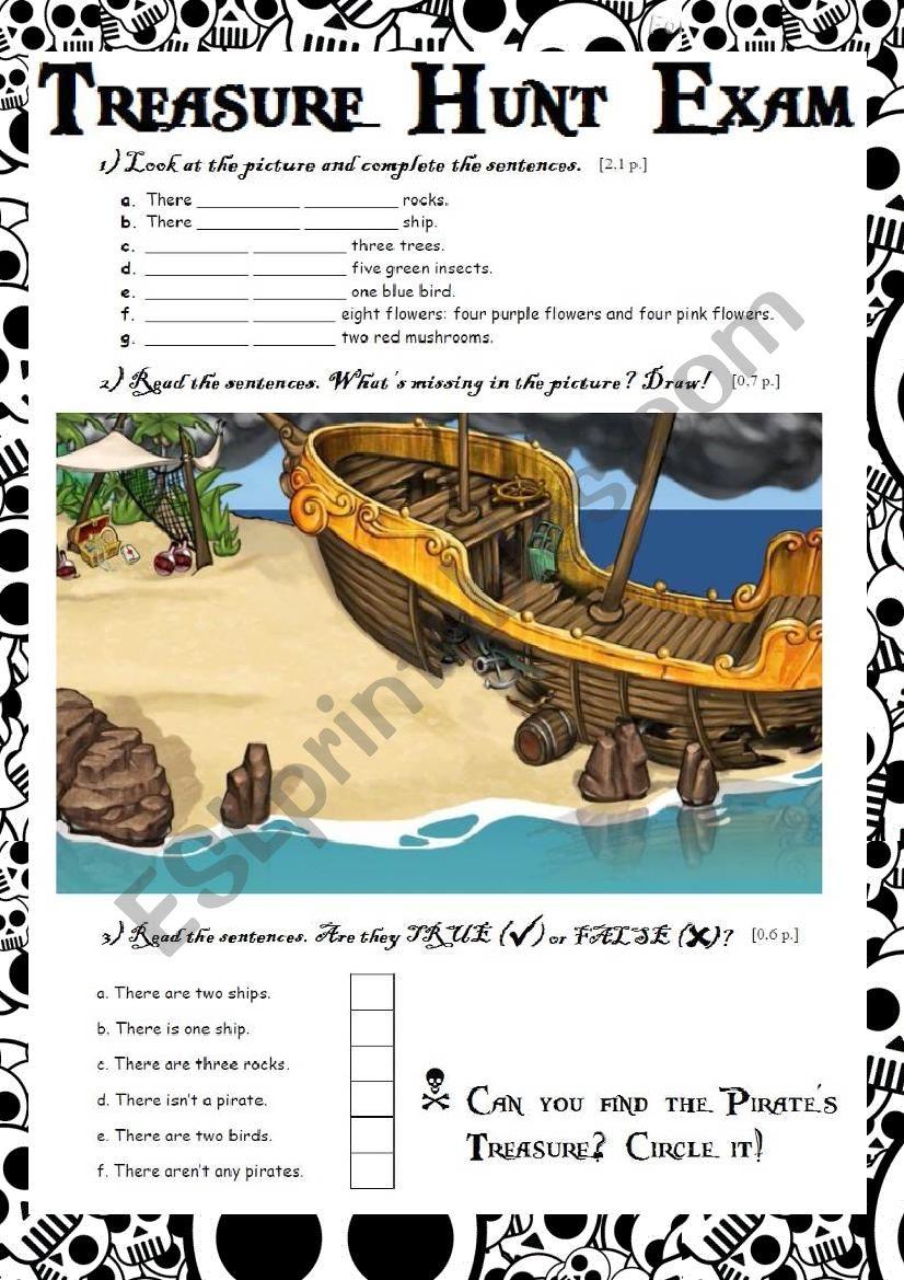 Treasure Hunt Exam worksheet