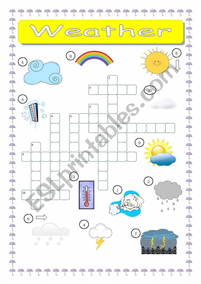 Weather Crossword worksheet