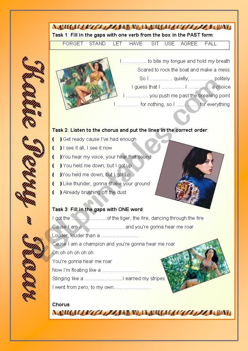 Katy Perry - Roar worksheet