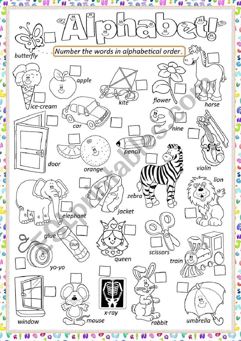 ** Alphabet ** worksheet