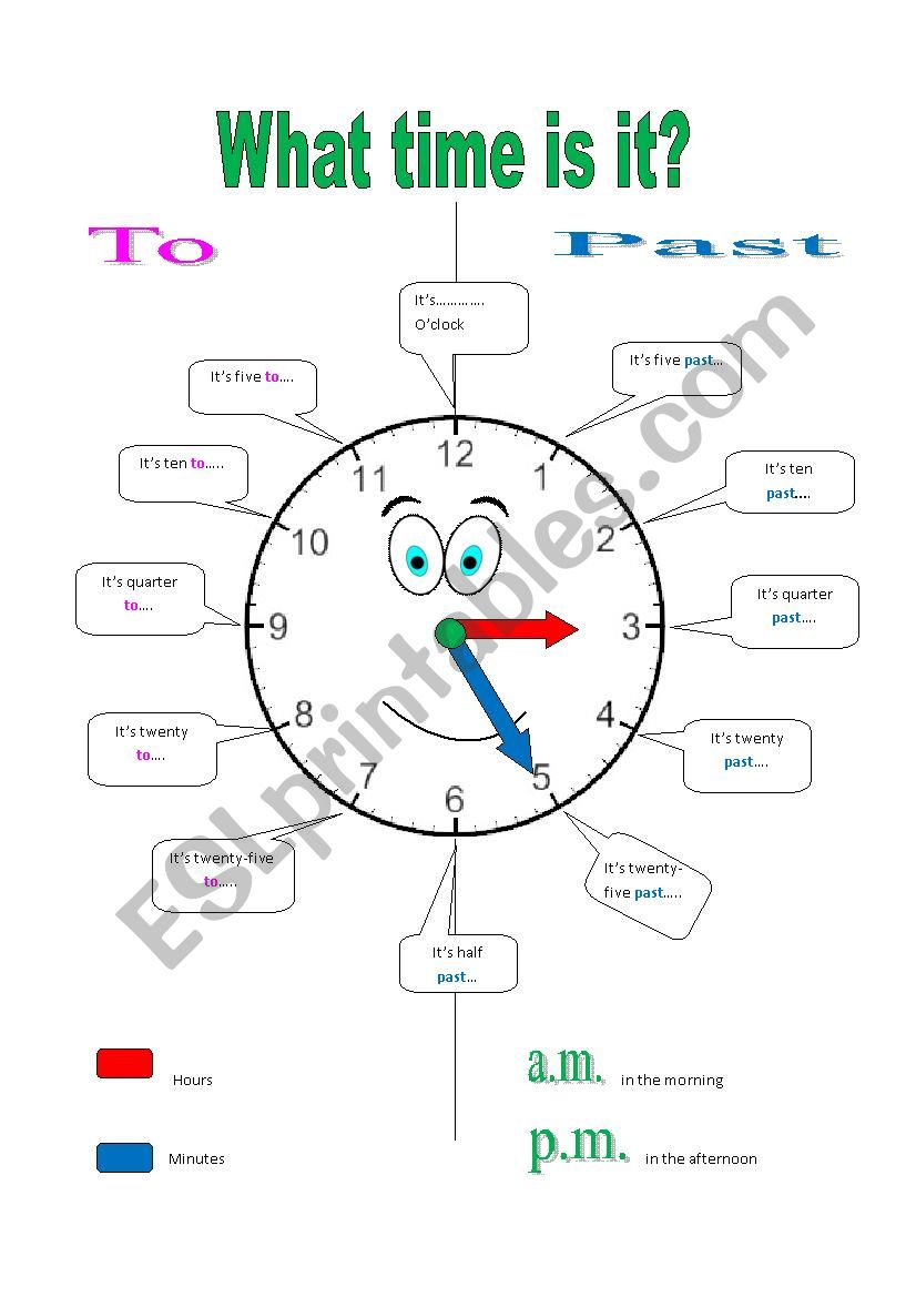 This is an image of Printable Clock Faces for Crafts with blank