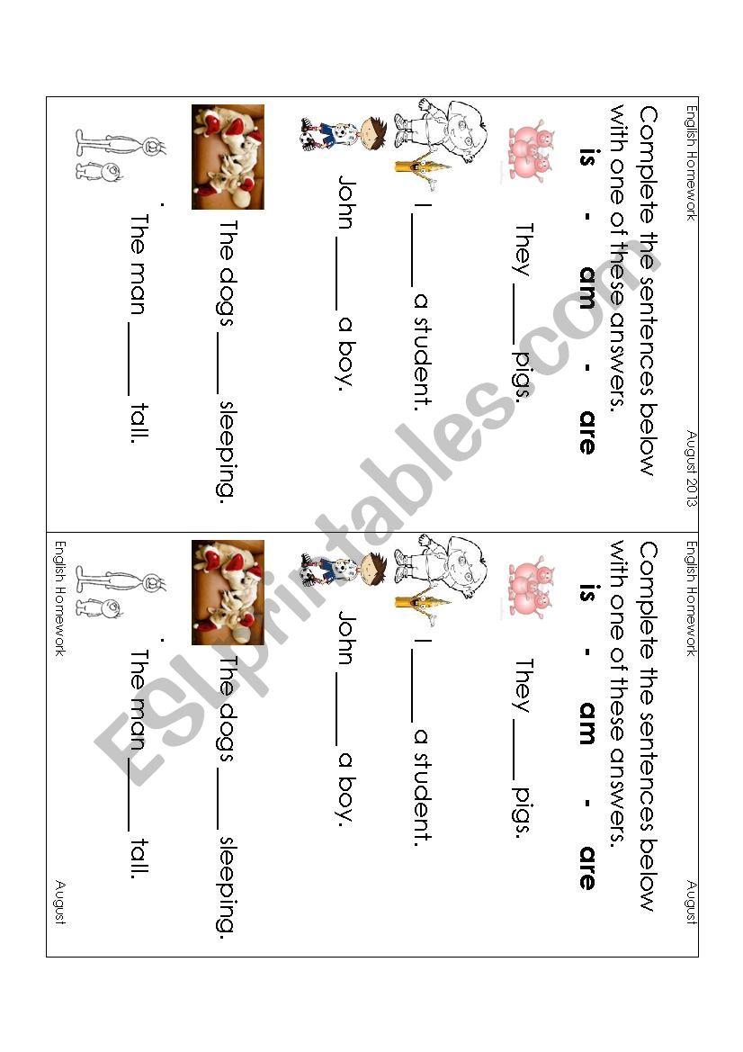 K3 Homework Sheets English Science Maths Esl Worksheet By Spottypink
