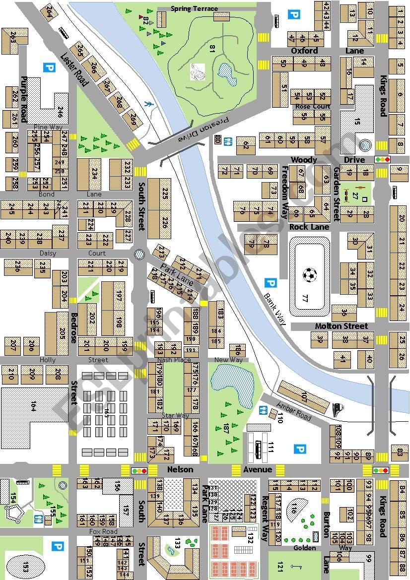 city map 1 worksheet