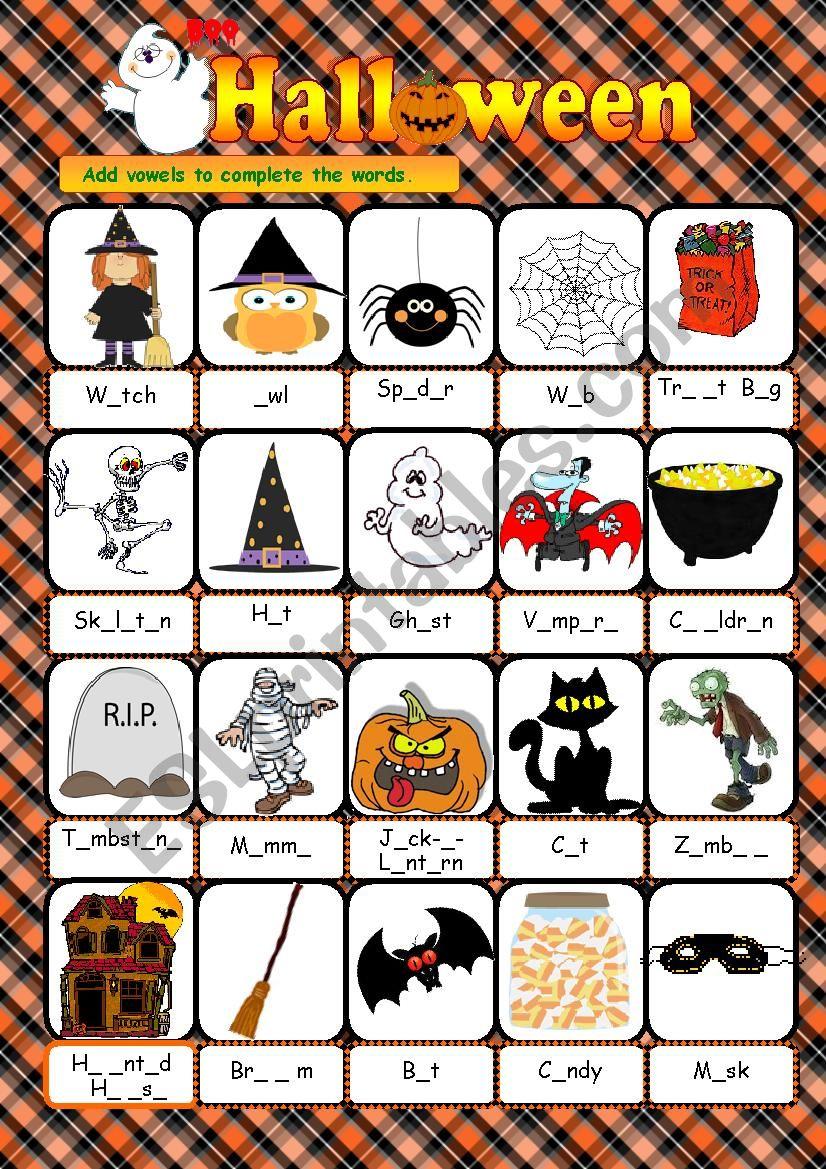 Halloween - vocabulary worksheet