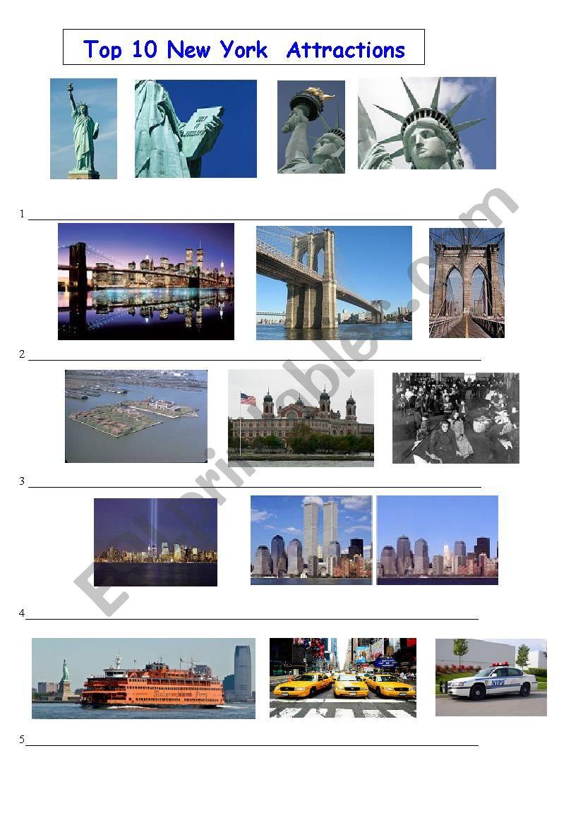 new york top ten attractions part1