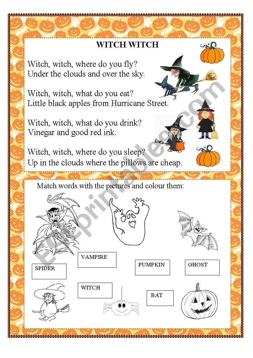 Halloween activity worksheet