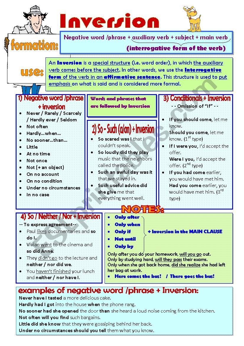--INVERSION-- worksheet