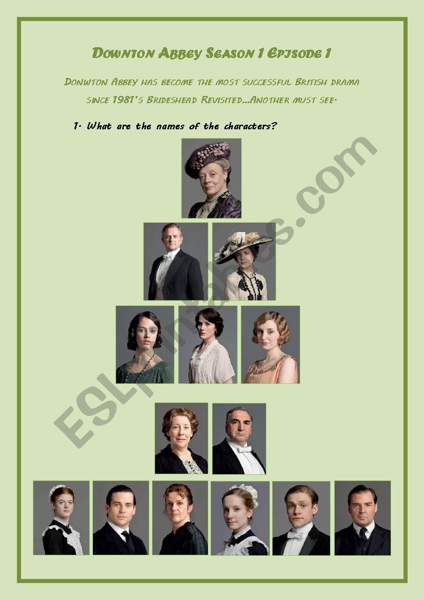Downton Abbey Exercise Game