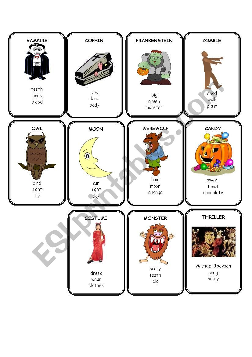 Halloween Taboo 2 of 2 worksheet