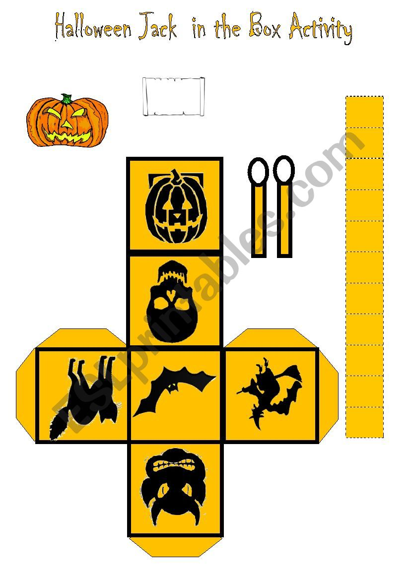 Halloween Message Jack In The Box Craft