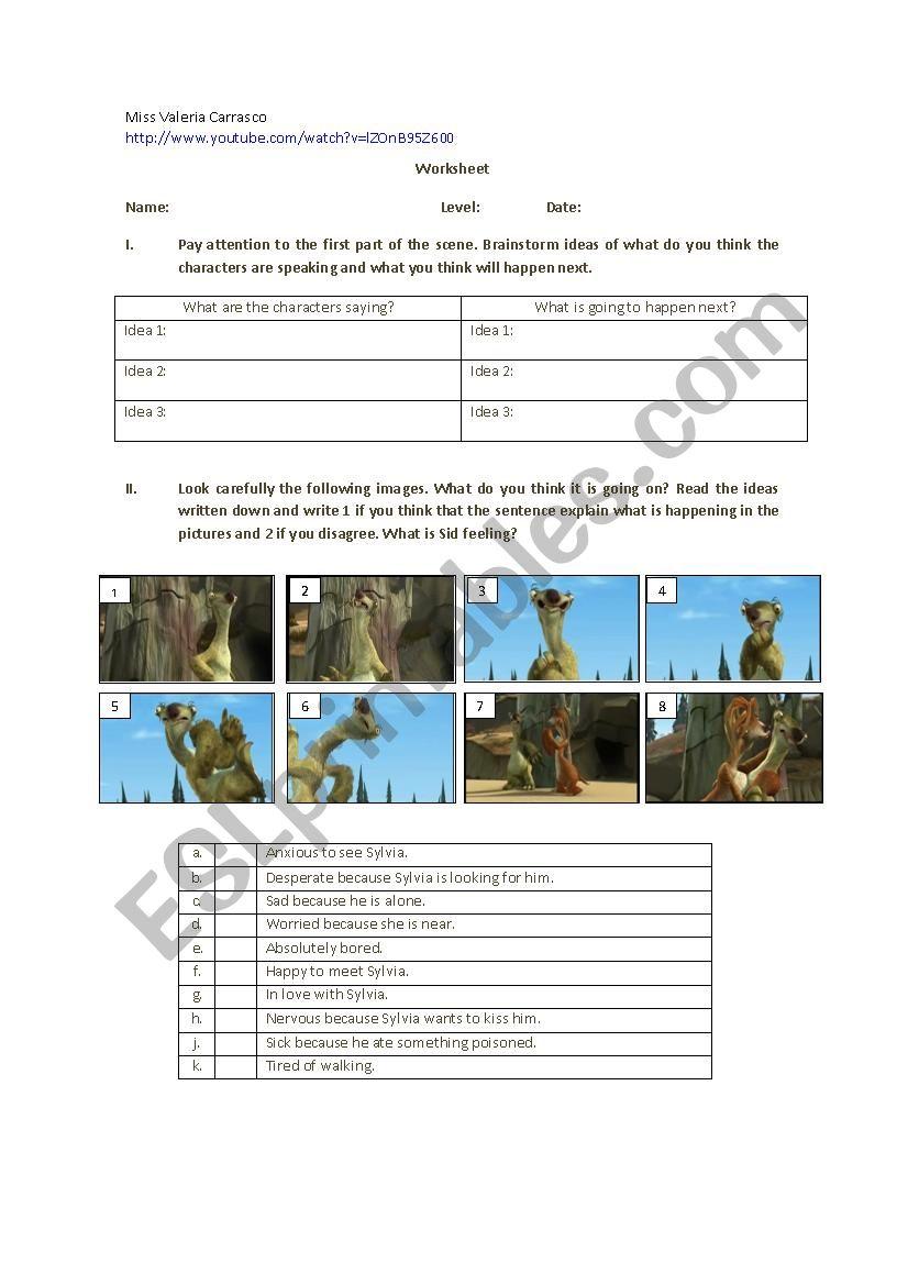 Ice Age worksheet - ESL worksheet by Gonfita