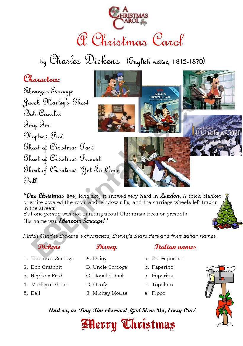 A Christmas carol - ESL worksheet by customer