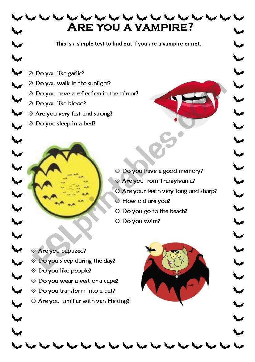 Halloween test 2/2 worksheet