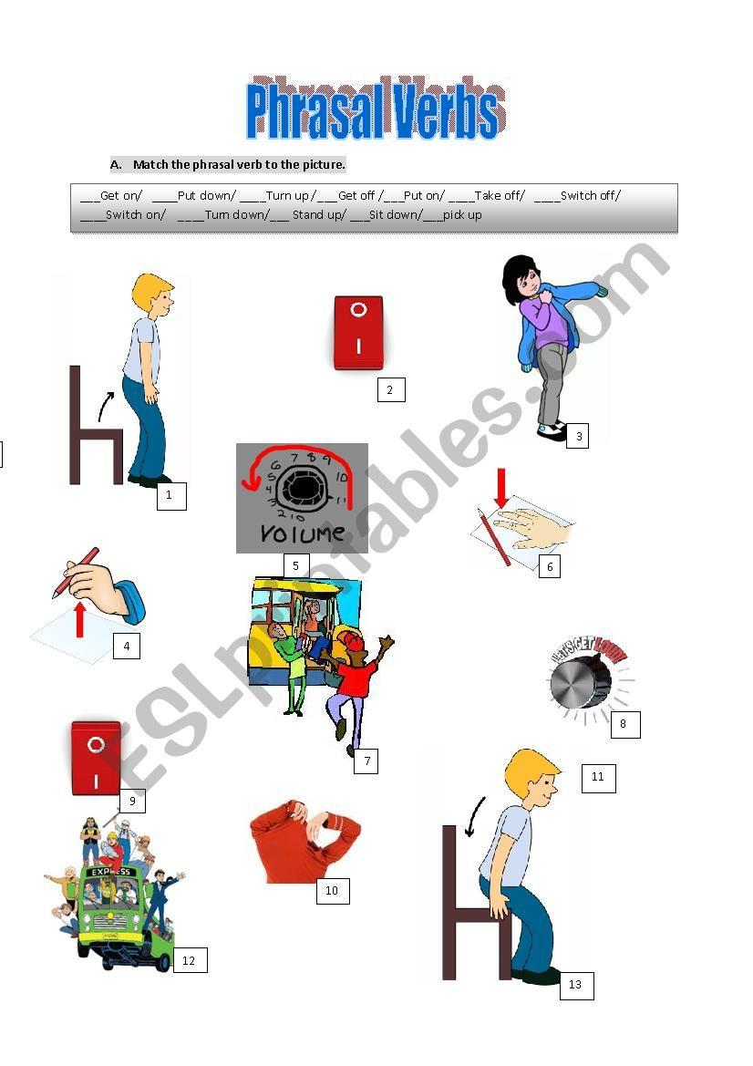 Pharasal Verbs worksheet