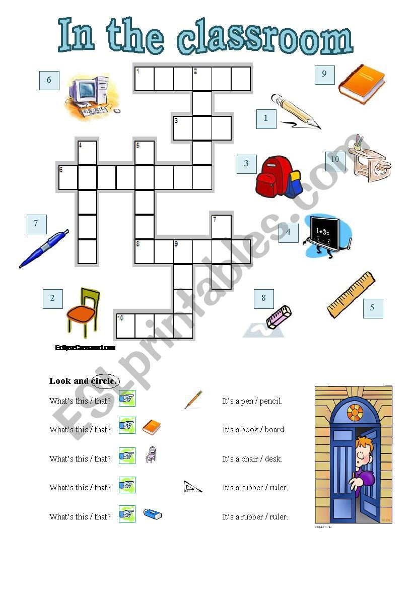 In the classroom 1 worksheet