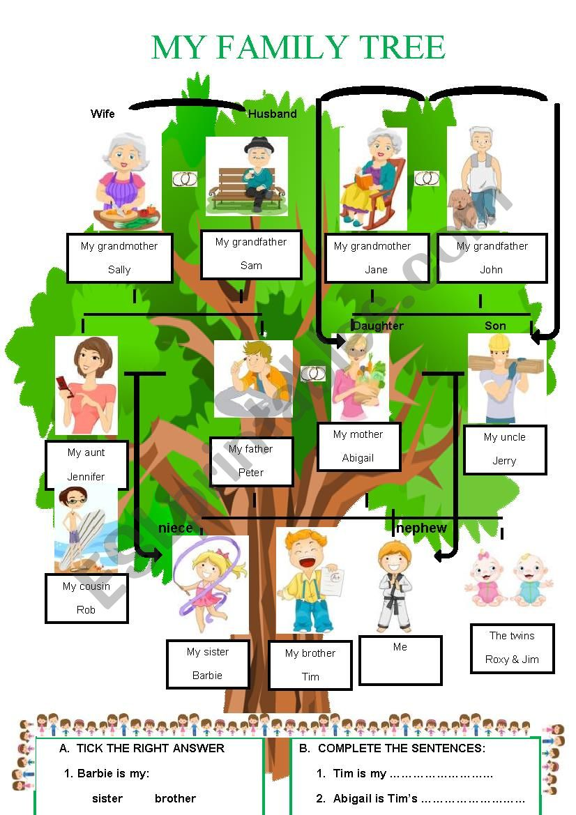 MY FAMILY TREE 1 worksheet