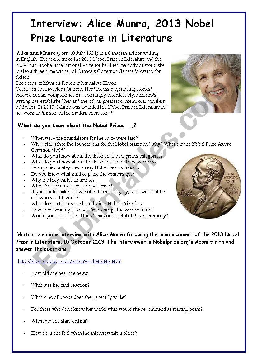 Nobel Prize Laureate in Literature Alice Munro - Video Session (3.51