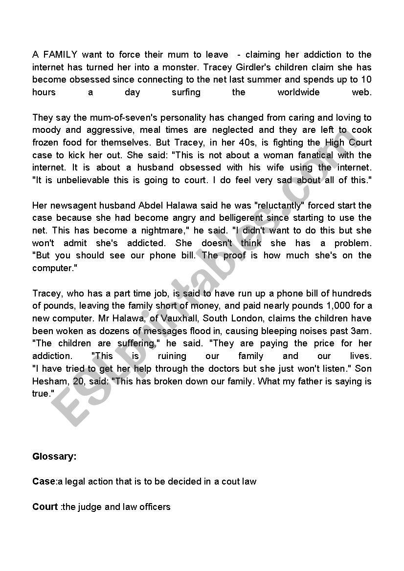 second year third term test worksheet