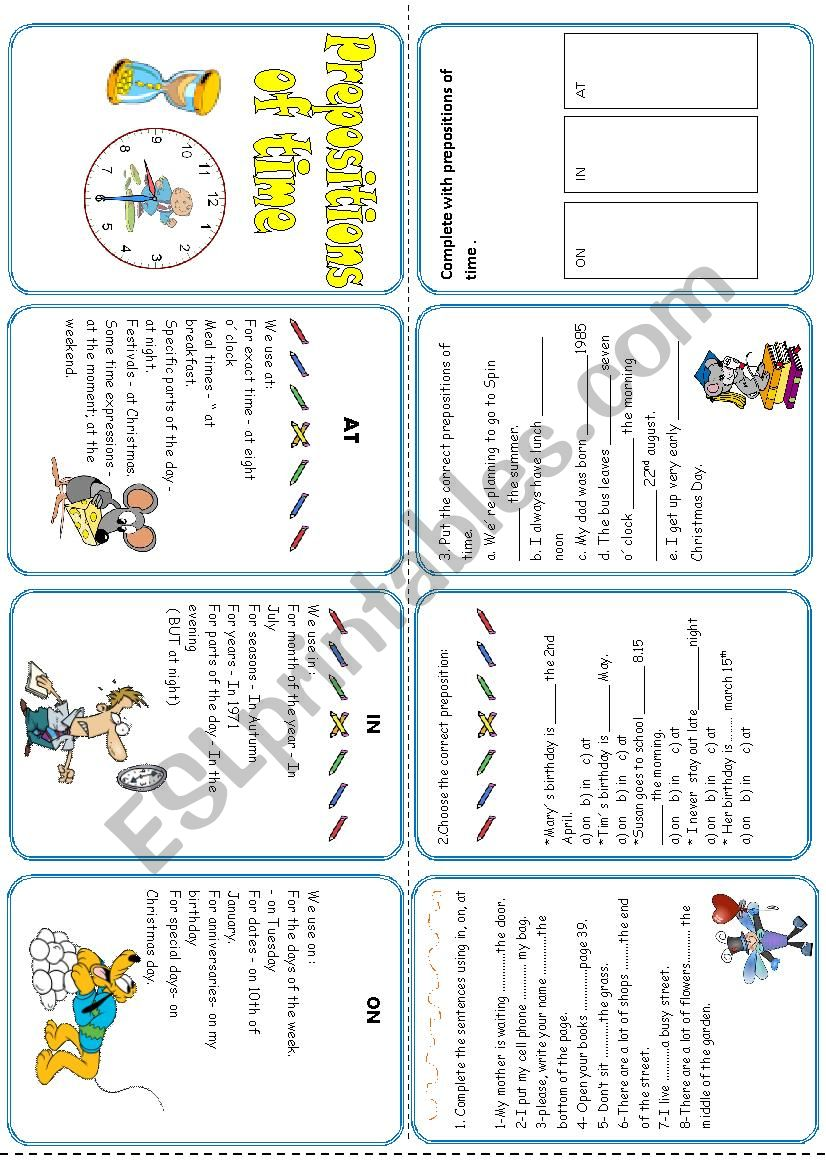 Prepositions of time - MiniBook*