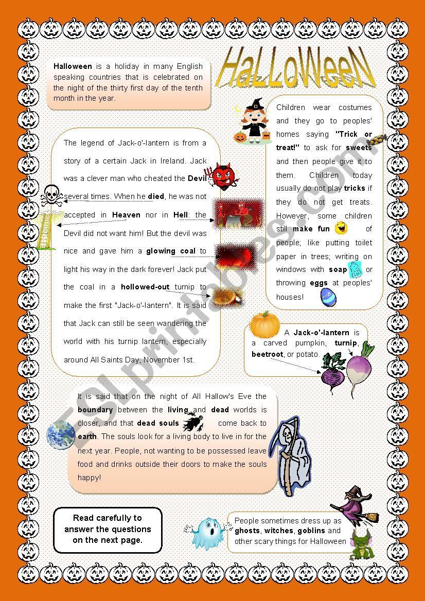 Halloween - Story + activities