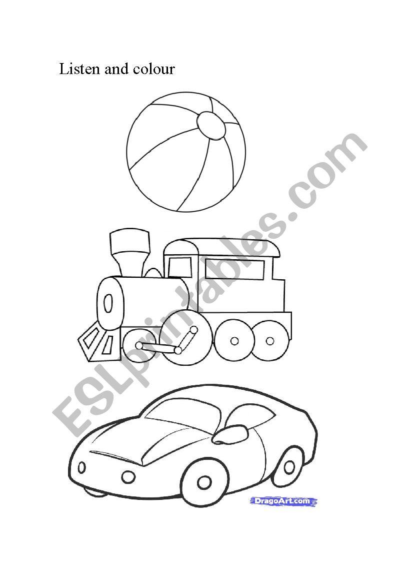 toys for kinder worksheet