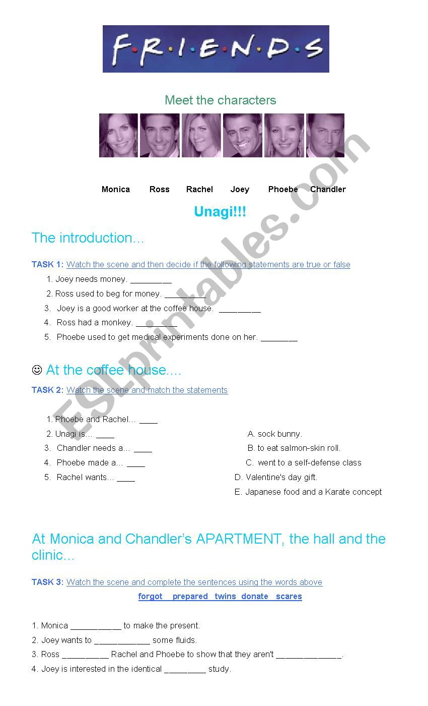 Friends-Unagi worksheet