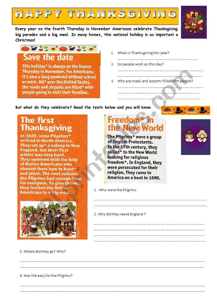 Thanksgiving1 worksheet