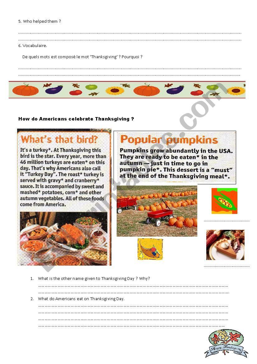 Thanksgiving2 worksheet
