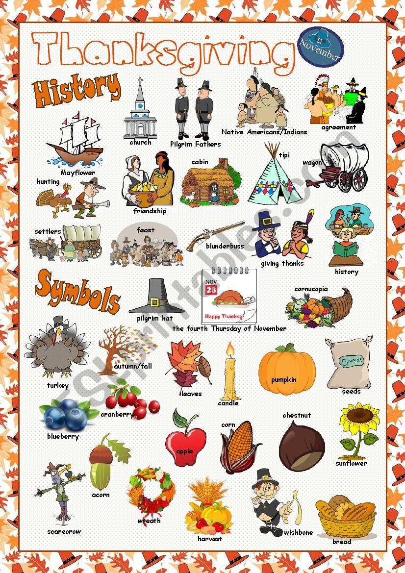 Thanksgiving Picture Dictionary#1