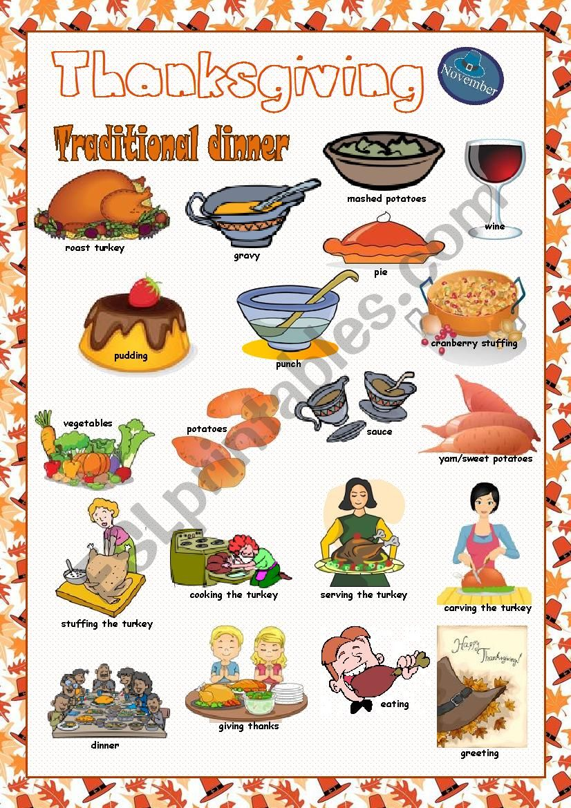 Thanksgiving Picture Dictionary#2