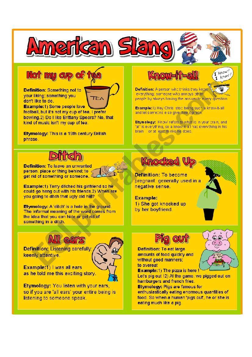 AMERICAN SLANG PART 2 worksheet