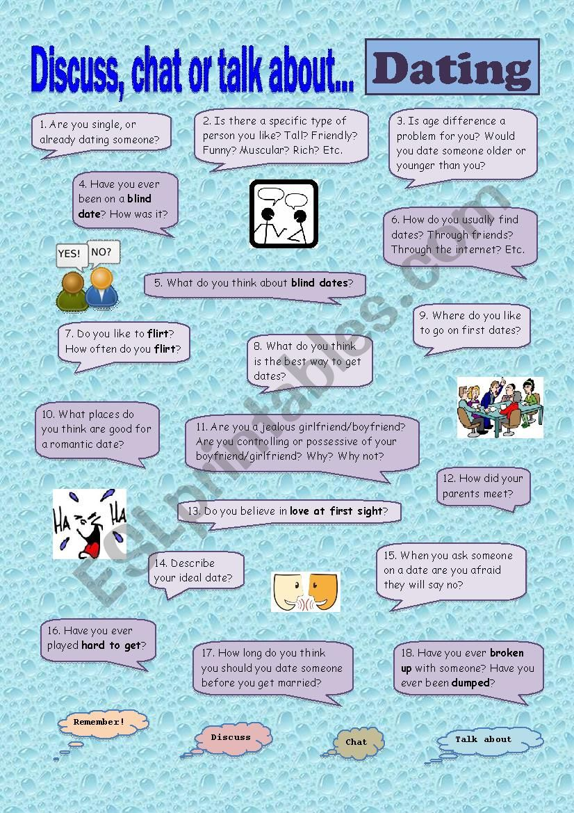 Dating worksheet