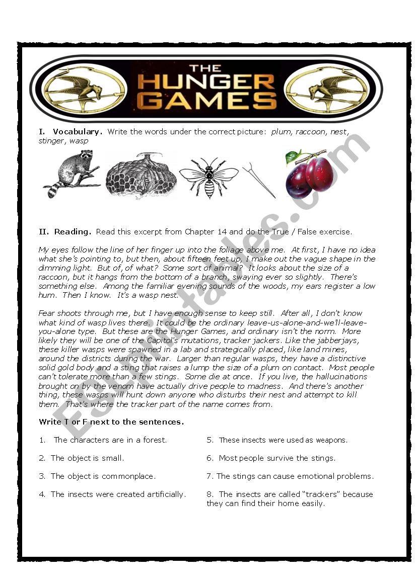 Hunger Games True False Reader