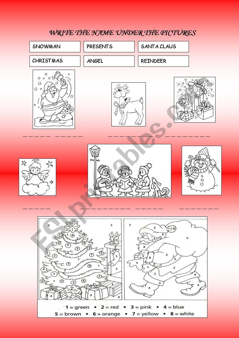 Christmas symbols worksheet