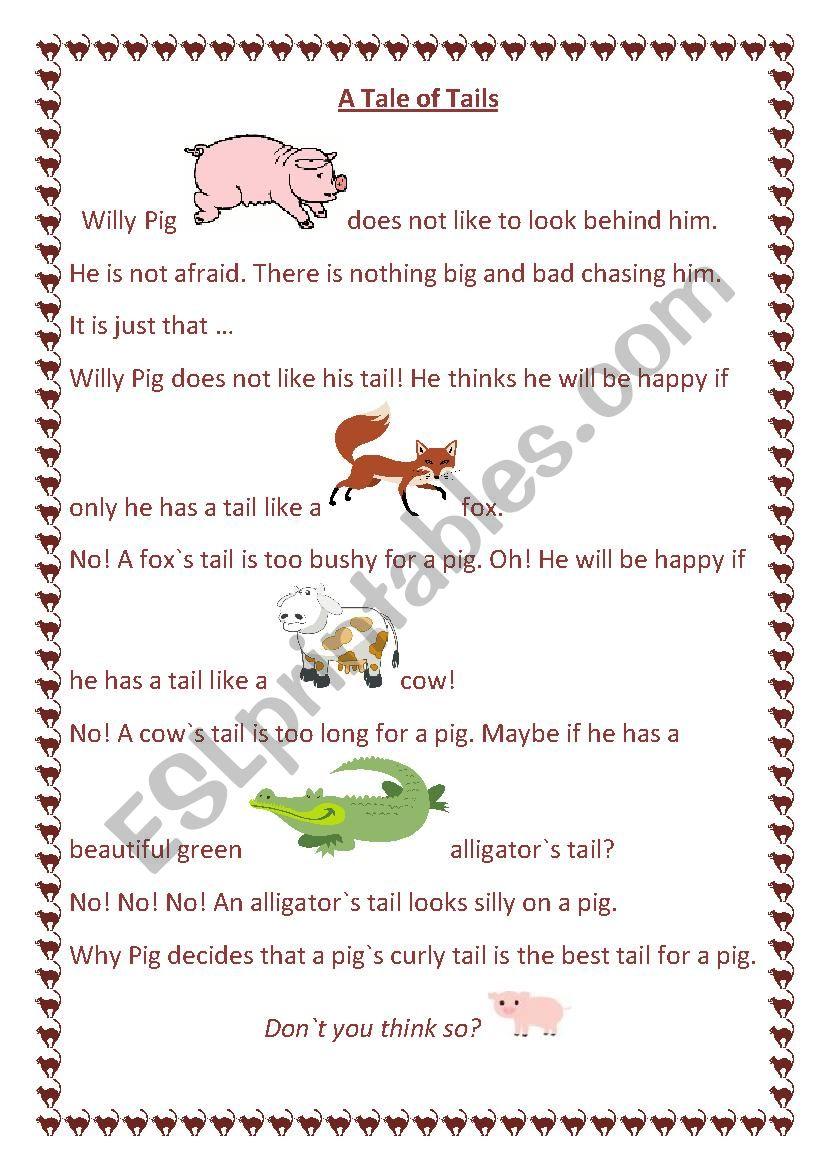 Tales for kids worksheet