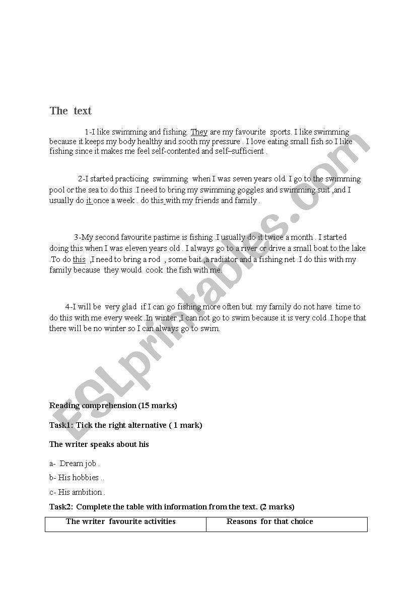 - Text +comprehension Questions - ESL Worksheet By Radhiamk1234
