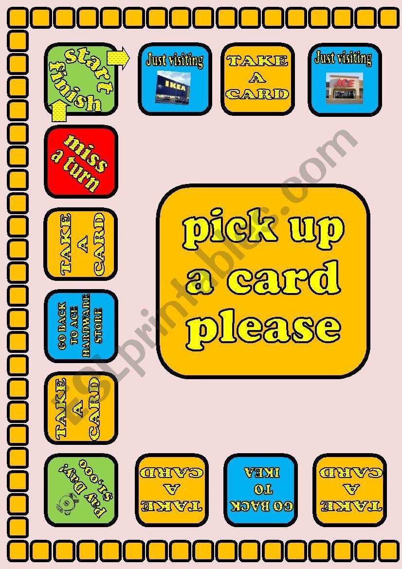 Money Pit Board Game 1/3 worksheet