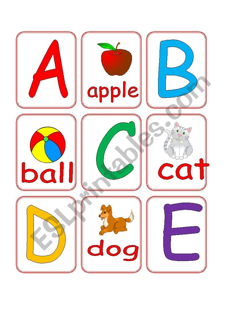 Alphabet Match Cards 1/2 worksheet