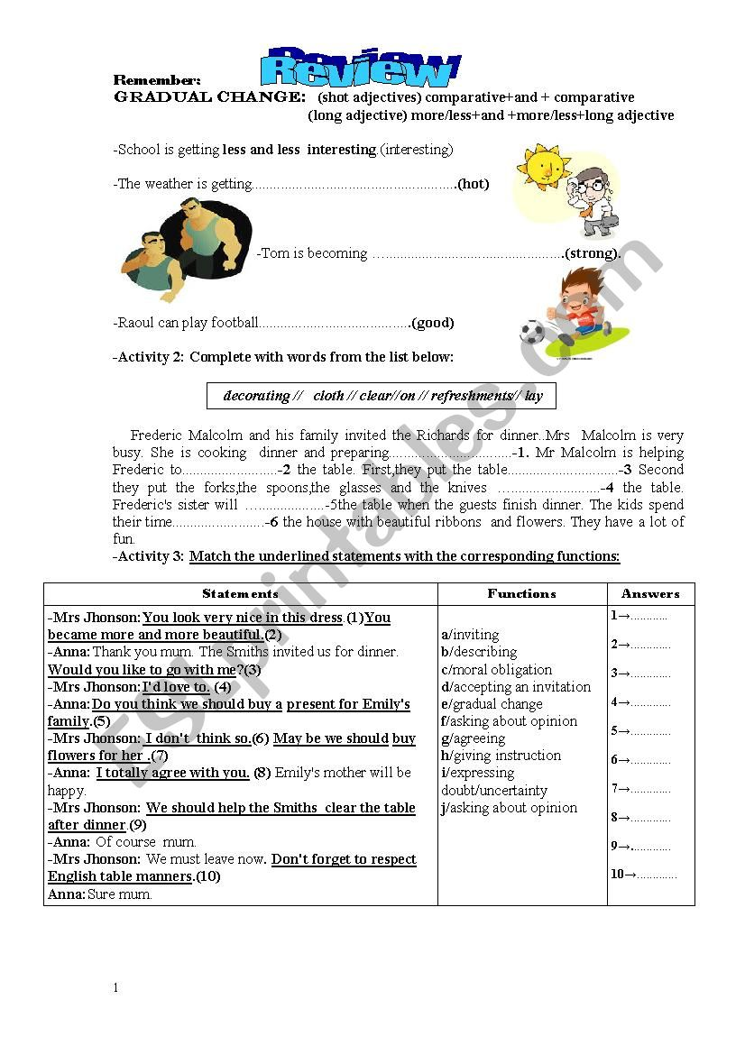 Review 8th form worksheet