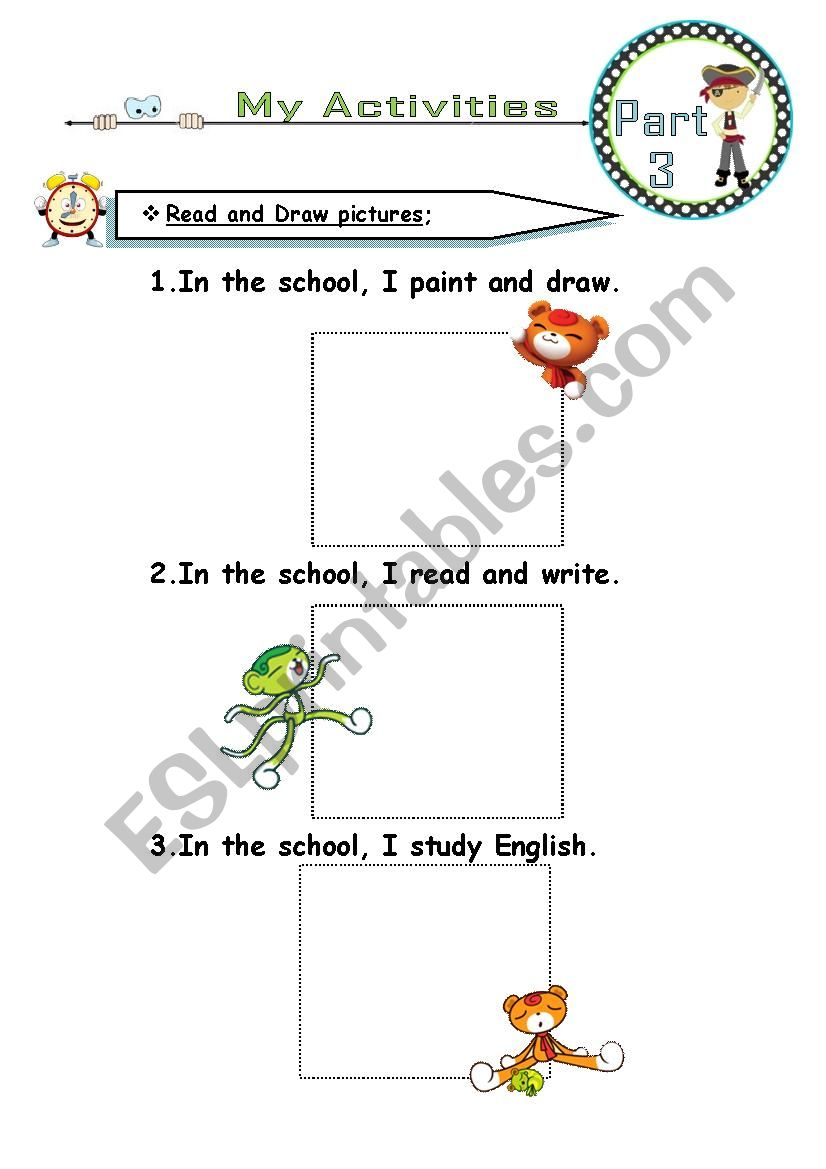 daily activities-part2 worksheet