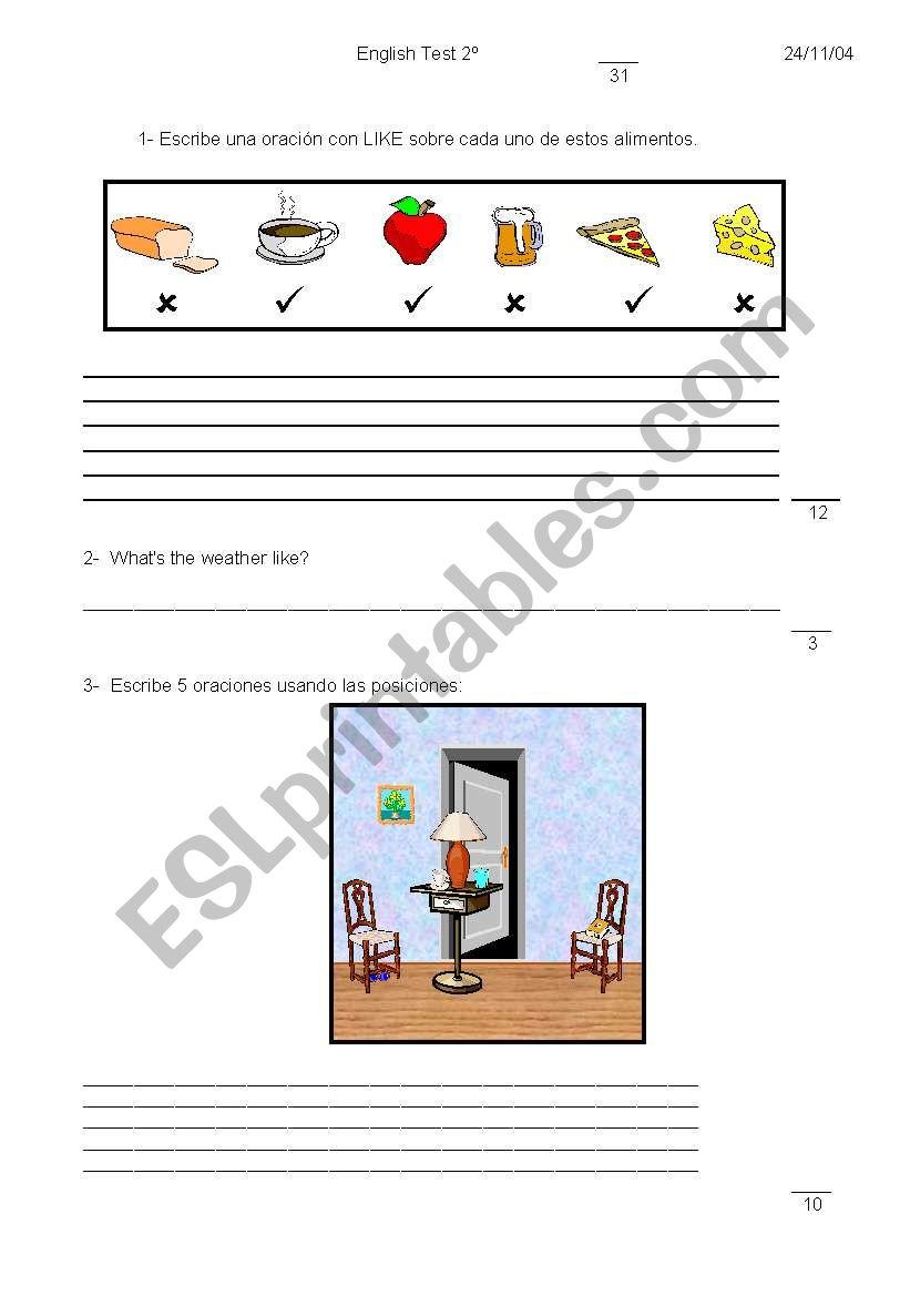 test 2 worksheet